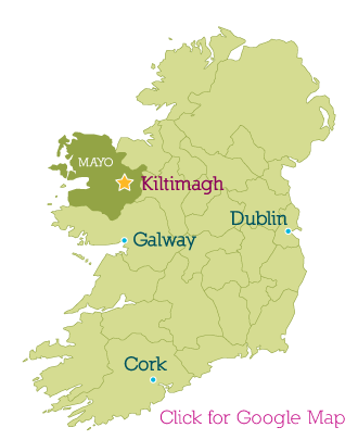 Map Of Ireland Knock Airport.Shannons Bed And Breakfast Kiltimagh County Mayo Ireland